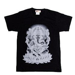 インドの神様!クールなガネーシャTシャツ