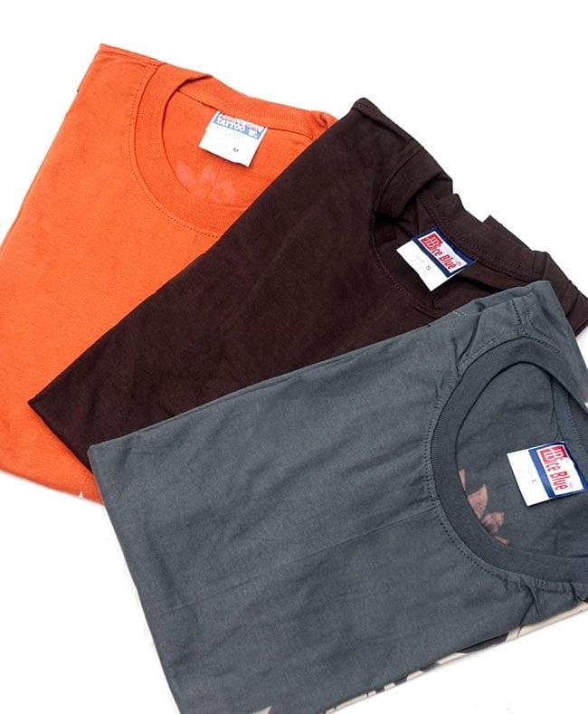 天高く咲く蓮 Tシャツ 5 - 左から、オレンジ、ブラウン、グレーです
