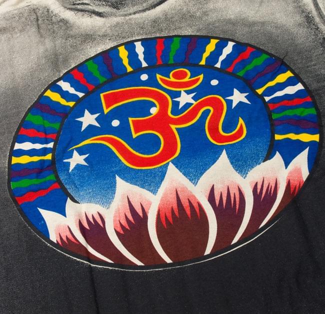 【長袖】ロータスとオーン Tシャツ 4 - 拡大写真です