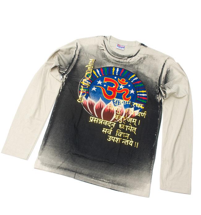 【長袖】ロータスとオーン Tシャツの写真