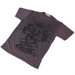 12本腕ガネーシャ Tシャツ【ヘザー生地】
