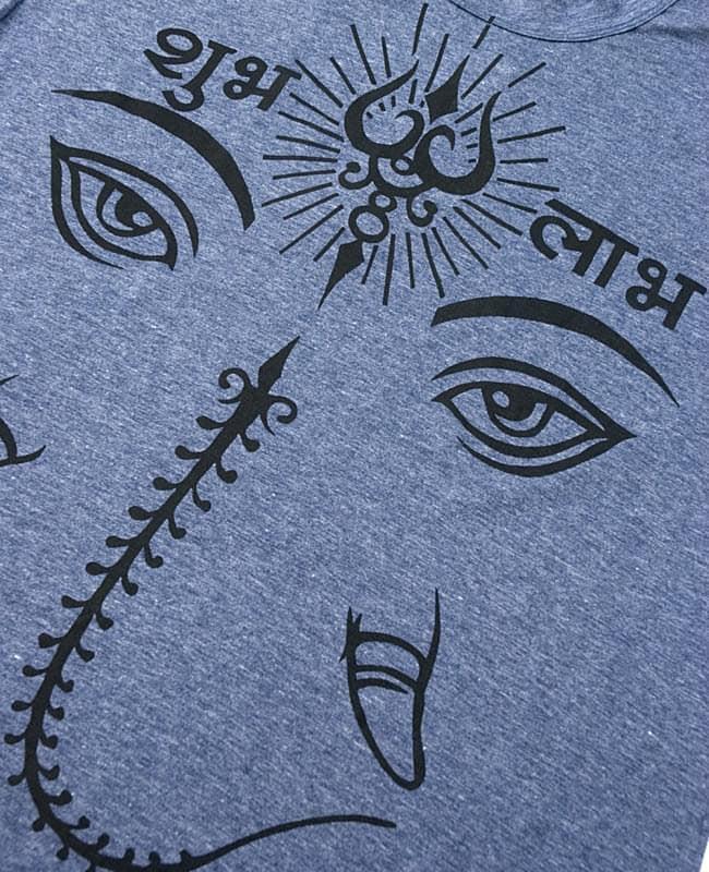 ガネーシャアイ Tシャツ【ヘザー生地】 3 - 拡大写真です
