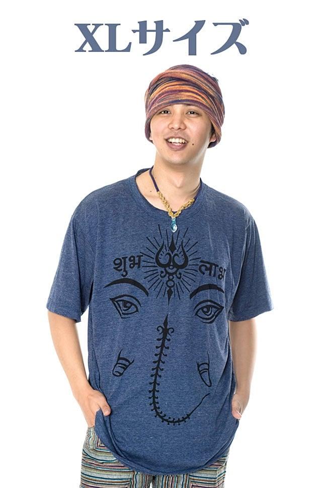 ガネーシャアイ Tシャツ【ヘザー生地】 9 - 身長170cmのモデルさんのMとLの着用例です。