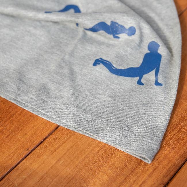 太陽礼拝Tシャツ ヨガの太陽礼拝ポーズをデザイン 13 - 裾もしっかり