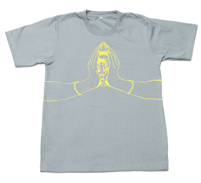 ナマステ・ガネーシャ Tシャツ 【グレー】 2 - 全体写真です。
