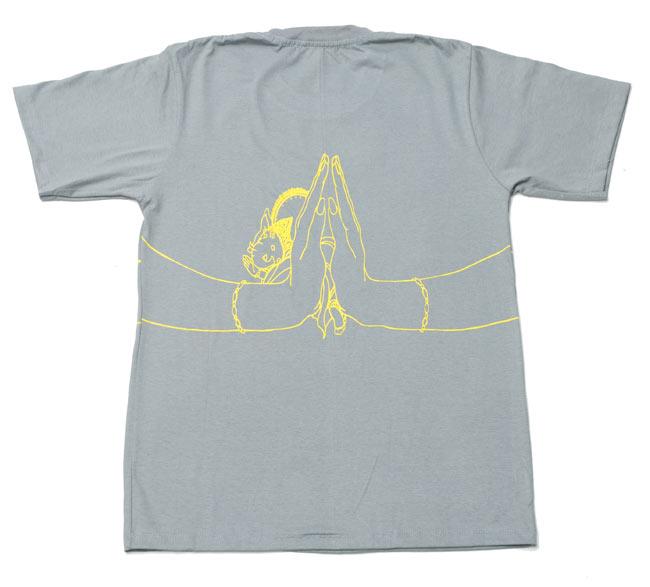 ナマステ・ガネーシャ Tシャツ 【グレー】 4 - 裏面はこんな感じです。