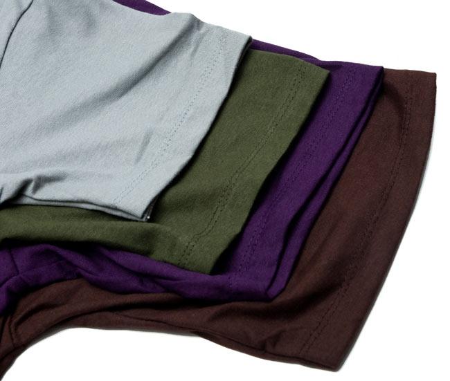 ナマステ・ガネーシャ Tシャツ 【グレー】 8 - 袖口のサイズ比較アップです。
