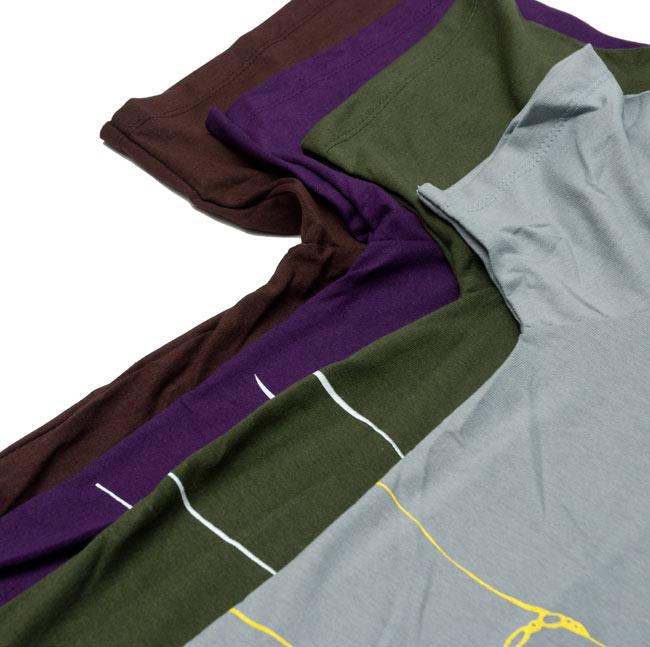 ナマステ・ガネーシャ Tシャツ 【グレー】 9 - 身幅のサイズ比較アップです。サイズによって、かなり異なるので詳細はサイズ表をご確認下さい。