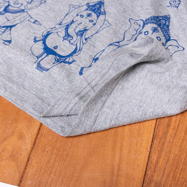 ヨガネーシャTシャツ ヨガをするガネーシャのオリジナルTシャツ 新色入荷 12 - 裾の写真です