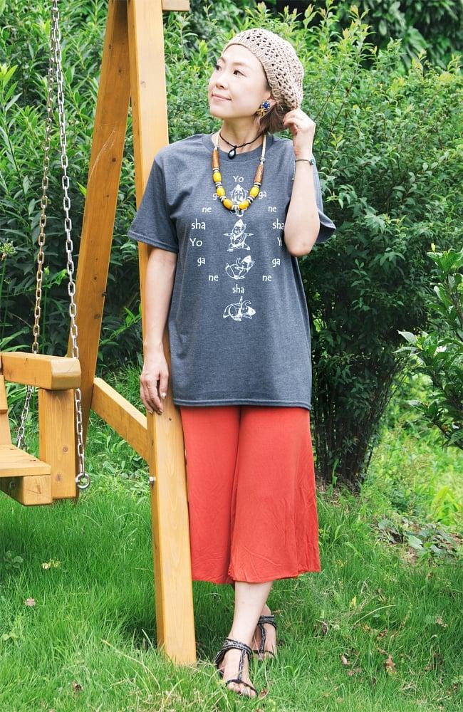 ヨガネーシャTシャツ ヨガをするガネーシャのオリジナルTシャツ 新色入荷 6 - 丈夫に作られています