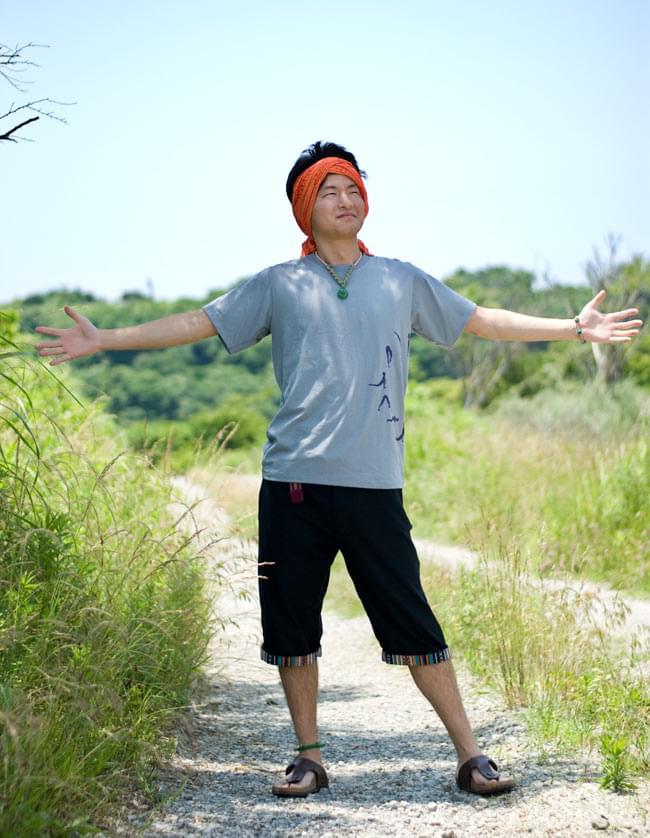 ヨガネーシャ 【カーキ】 10 - 身長178cmのスタッフがLサイズを着てみました。(こちらは同ジャンルの異なる商品です)