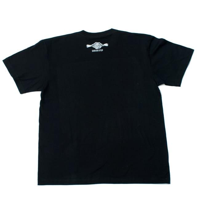 翼のあるサラスバティTシャツ 5 - 後ろのデザインはとてもシンプルです。