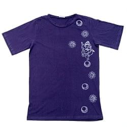 リズミカルガネーシャ ウッドブロックプリントTシャツ