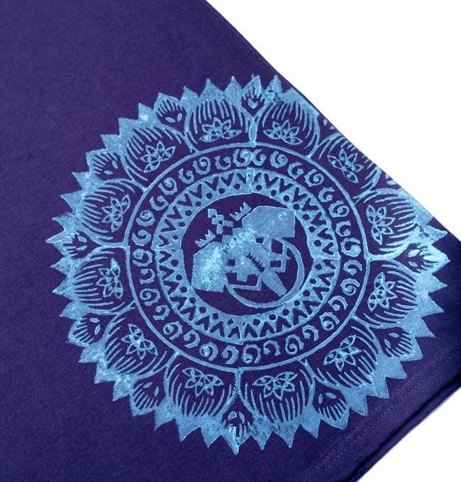 ガネーシャのひかり ウッドブロックプリントTシャツの写真6 - 裏面はこんな感じです
