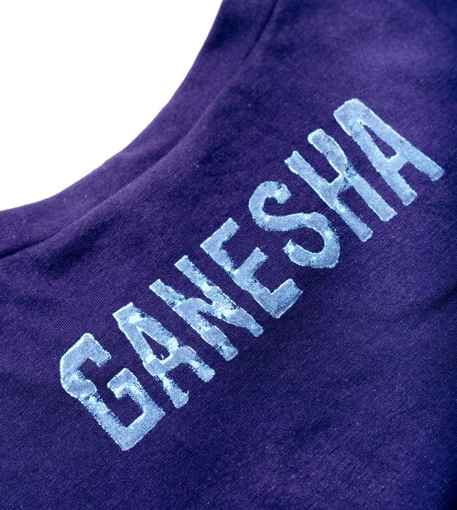 ガネーシャのひかり ウッドブロックプリントTシャツの写真8 - 豪華なプリントです