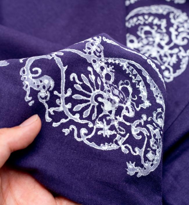 ドロップリーフ ウッドブロックプリントTシャツ 10 - フチのところなどにプリントを入れられるのも、自由度の高いウッドブロックプリントの魅力です。