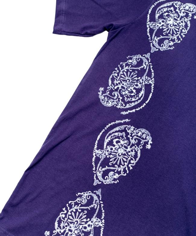 ドロップリーフ ウッドブロックプリントTシャツ 3 - 前面のプリントをアップにしてみました