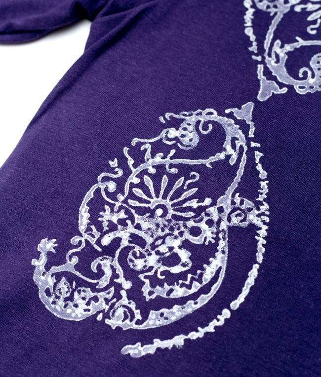 ドロップリーフ ウッドブロックプリントTシャツ 4 - さらに拡大写真です