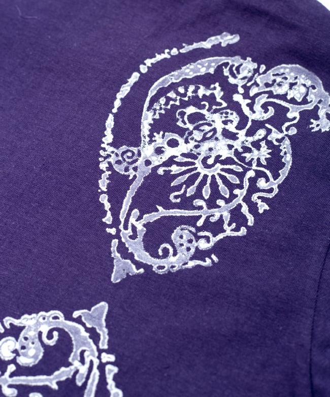 ドロップリーフ ウッドブロックプリントTシャツ 8 - 拡大写真です
