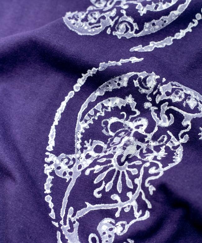 ドロップリーフ ウッドブロックプリントTシャツ 9 - 程よいエスニック感があります