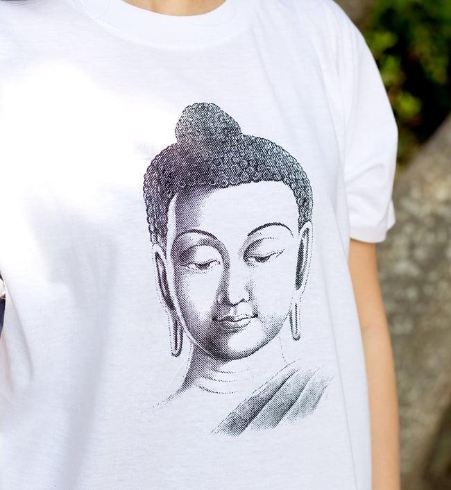 ブッダTシャツの写真2 - 拡大写真です