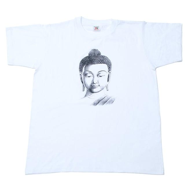 ブッダTシャツの写真5 - 平置きした写真です