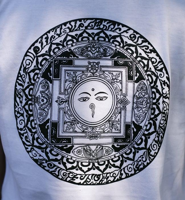 ブッダアイ マンダラTシャツ 4 - 拡大写真です
