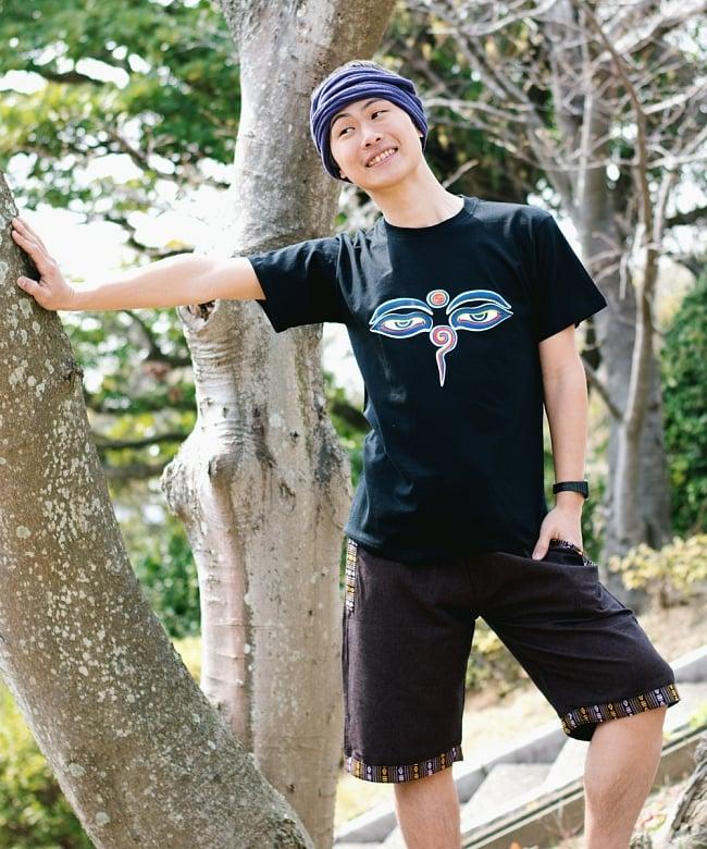 ブッダアイTシャツ 2 - こちらはMサイズブラックの写真です