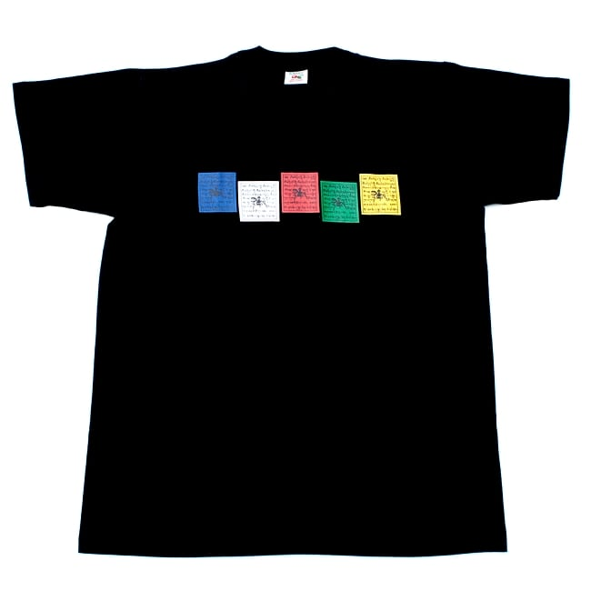タルチョーTシャツ 5 - 平置きした写真です