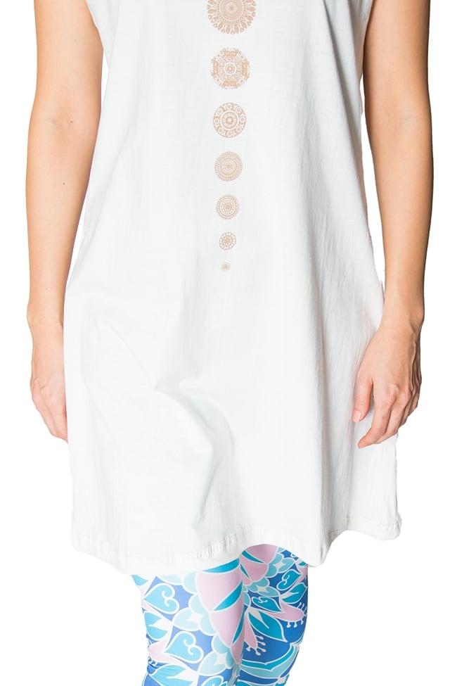 7 chakra ロングタンクトップ ヨガやフィットネスにの写真5 - 少し長めの裾がキュートです。