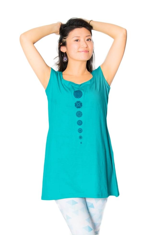 7 chakra タンクトップ ヨガやフィットネスに 2 - 身長165cmのモデルさんの着用例になります。