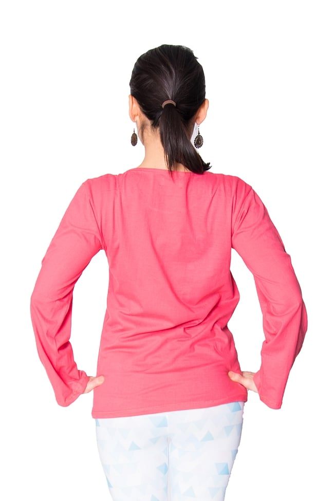 7 chakra ロングスリーブシャツヨガやフィットネスに 6 - 背中側はシンプルです。