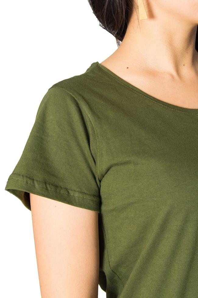 7 chakra ラウンドTシャツヨガやフィットネスに 3 - 首・肩周りの様子です。
