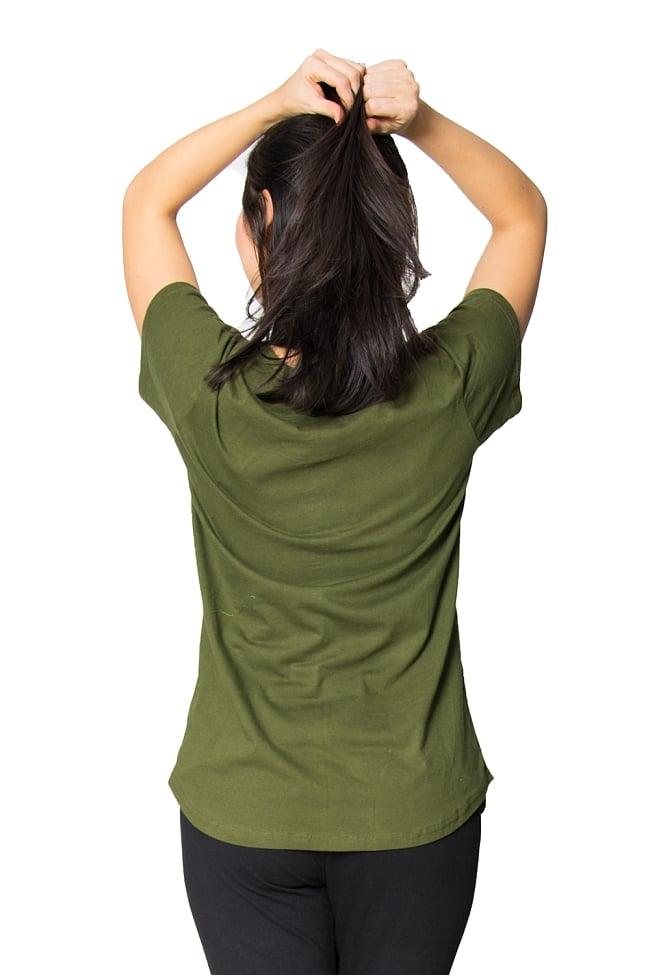 7 chakra ラウンドTシャツヨガやフィットネスに 6 - 背中側はシンプルです。