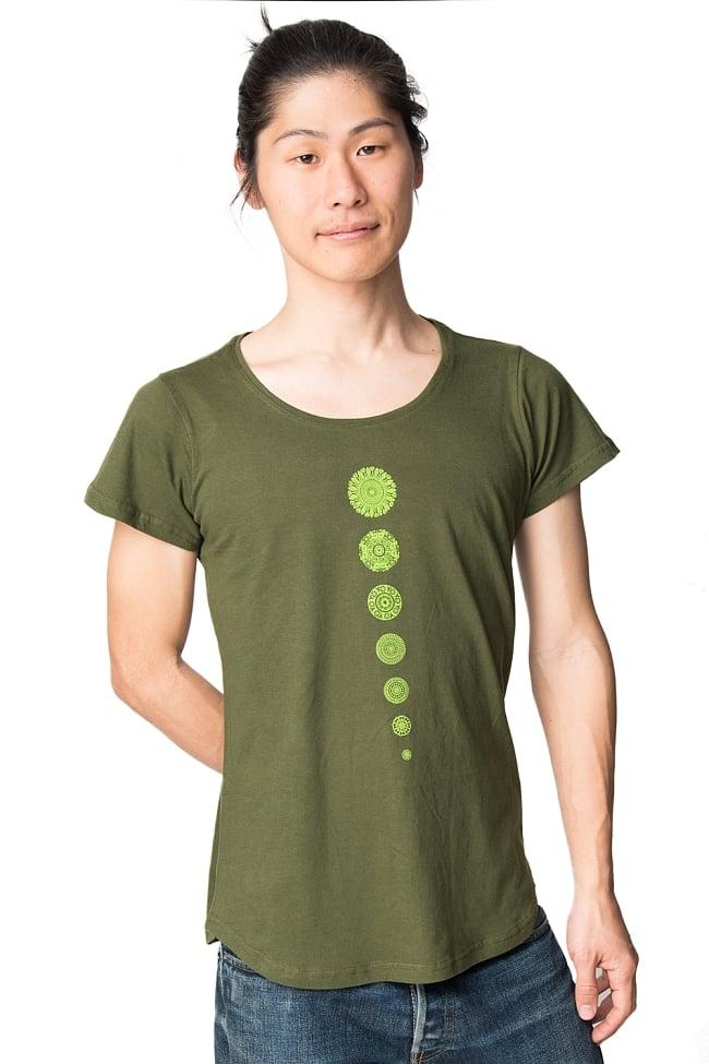 7 chakra ラウンドTシャツヨガやフィットネスに 8 - 男性でも着用できます。
