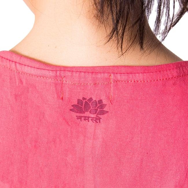 ロータス ラウンドTシャツヨガやフィットネスに 6 - ロータスとナマステがモチーフになっています。