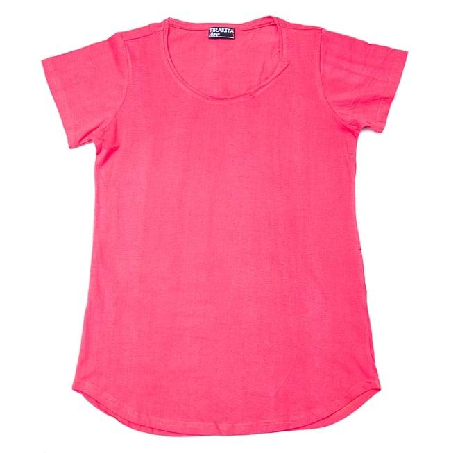 ロータス ラウンドTシャツヨガやフィットネスに 7 - 平らにしてみるとこのような様子です。