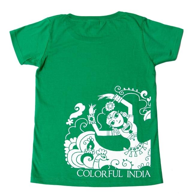 カラフルインディアTシャツ 10 - グリーン
