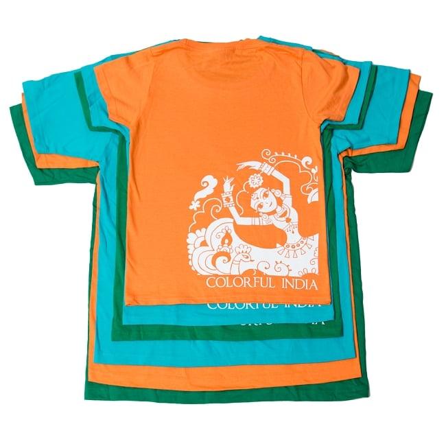 カラフルインディアTシャツ 11 - W/SからM/XLまで重ねてみました。