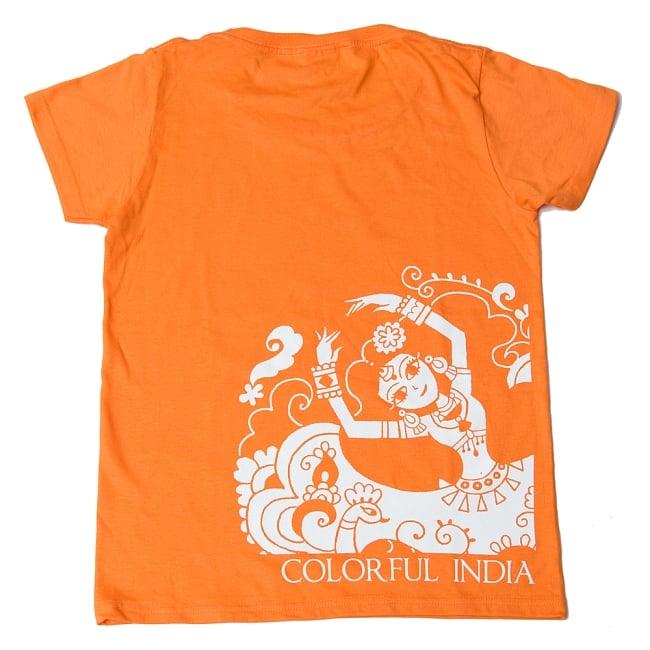 カラフルインディアTシャツ 8 - オレンジ
