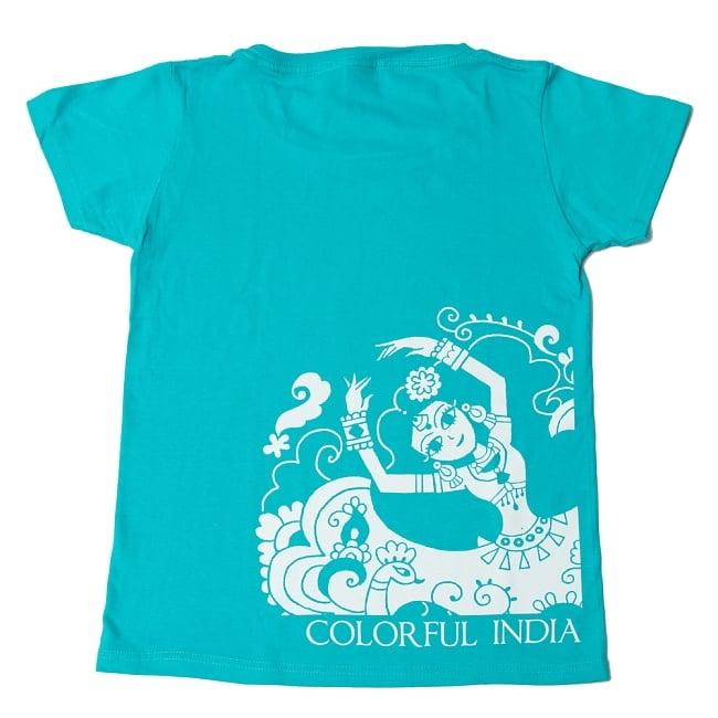 カラフルインディアTシャツ 9 - ターコイズ