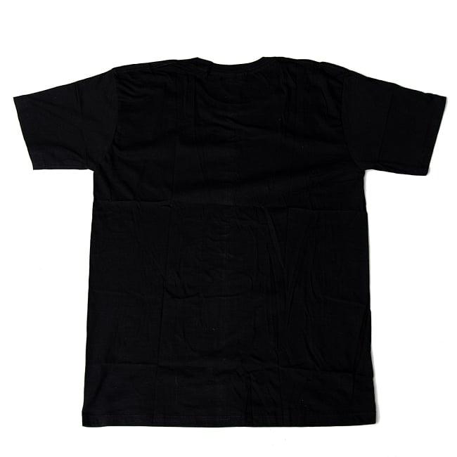 ロータスとオーンモチーフのTシャツ 4 - 裏面はシンプルな無地です。