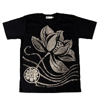ロータスとオーンモチーフのTシャツ