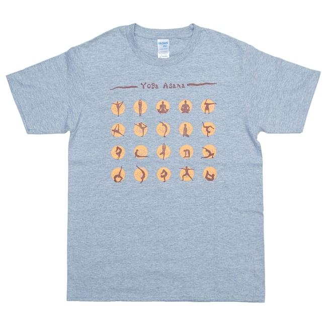 20ヨガポーズTシャツ ティラキタオリジナルデザイン 12 - スポーツグレー