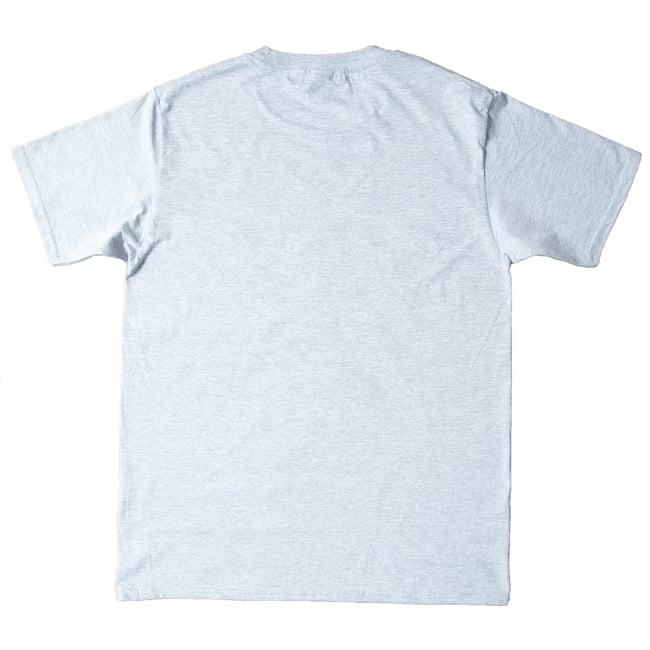20ヨガポーズTシャツ ティラキタオリジナルデザイン 6 - Tシャツの裏側です。無地になっています。