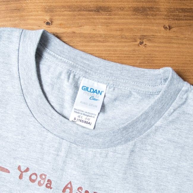 20ヨガポーズTシャツ ティラキタオリジナルデザイン 8 - 襟を拡大しました。しっかりした縫製です。