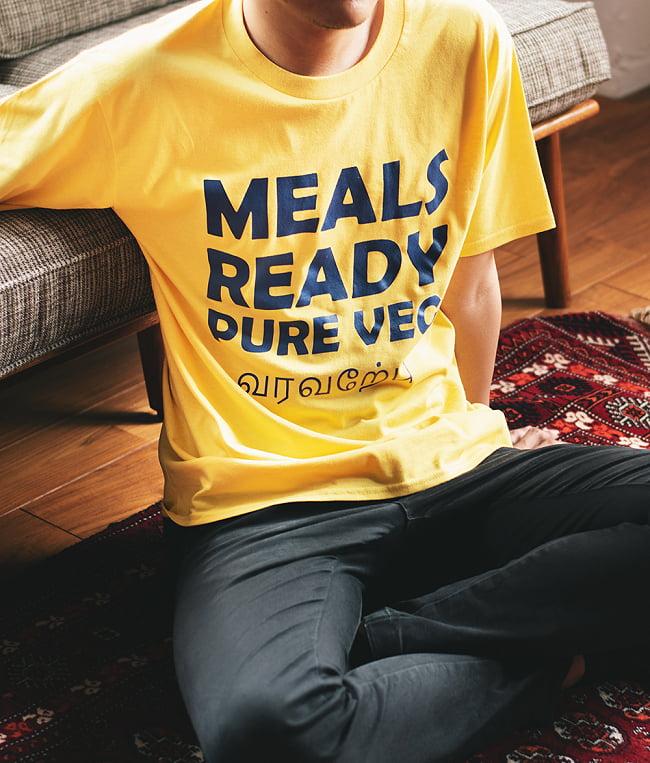 MEALS READY PURE VEG Tシャツ インド料理や南インドが好きな方へ 14 - シンプルなデザインで、男女兼用となっております。