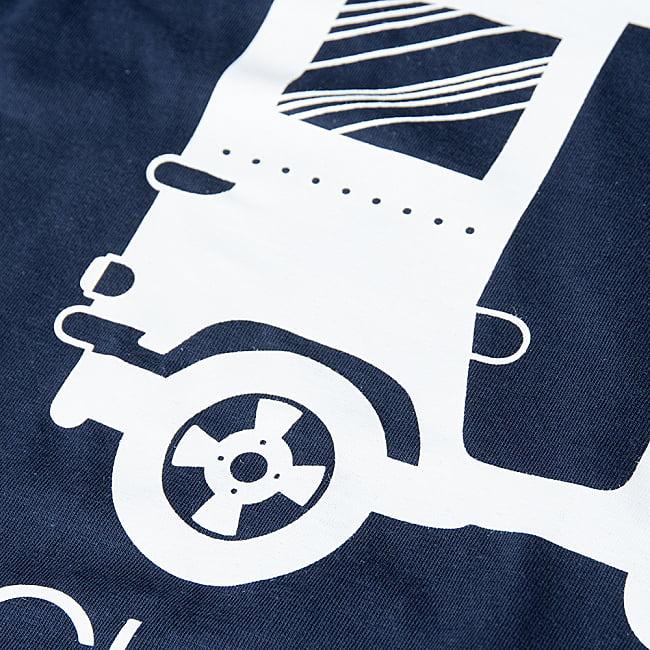 Chalo! India Tシャツ インド乗り物の王様、オートリキシャ 7 - プリントの写真です