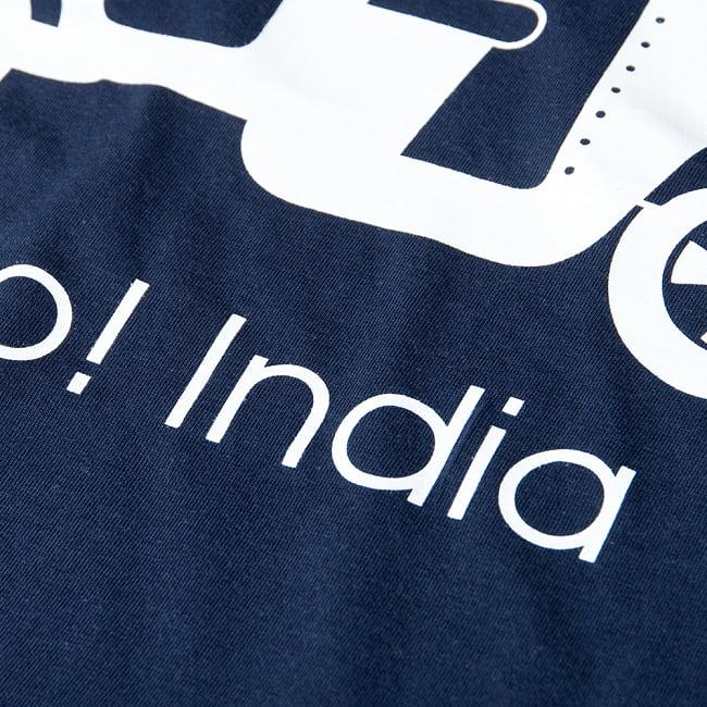 Chalo! India Tシャツ インド乗り物の王様、オートリキシャ 8 - 拡大写真です