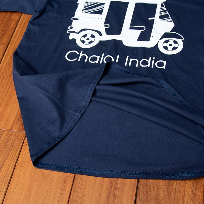 Chalo! India Tシャツ インド乗り物の王様、オートリキシャ 9 - 裾部分です